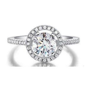 2.00 Carats CVD sparkling diamonds Engagement ring